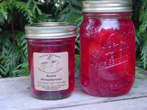Sweet Strawberry Preserves Candles