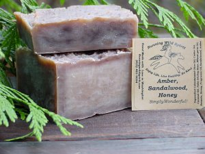 Amber*, Sandlewood, & Honey Bar Soap